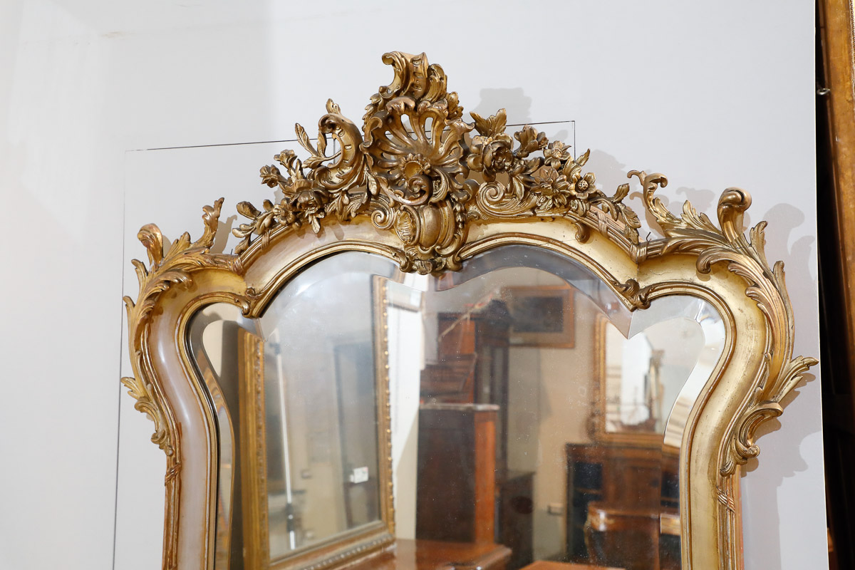 Sedie Ottocento Francese : Specchiera metà 800 francese mobili sisi antiquariato