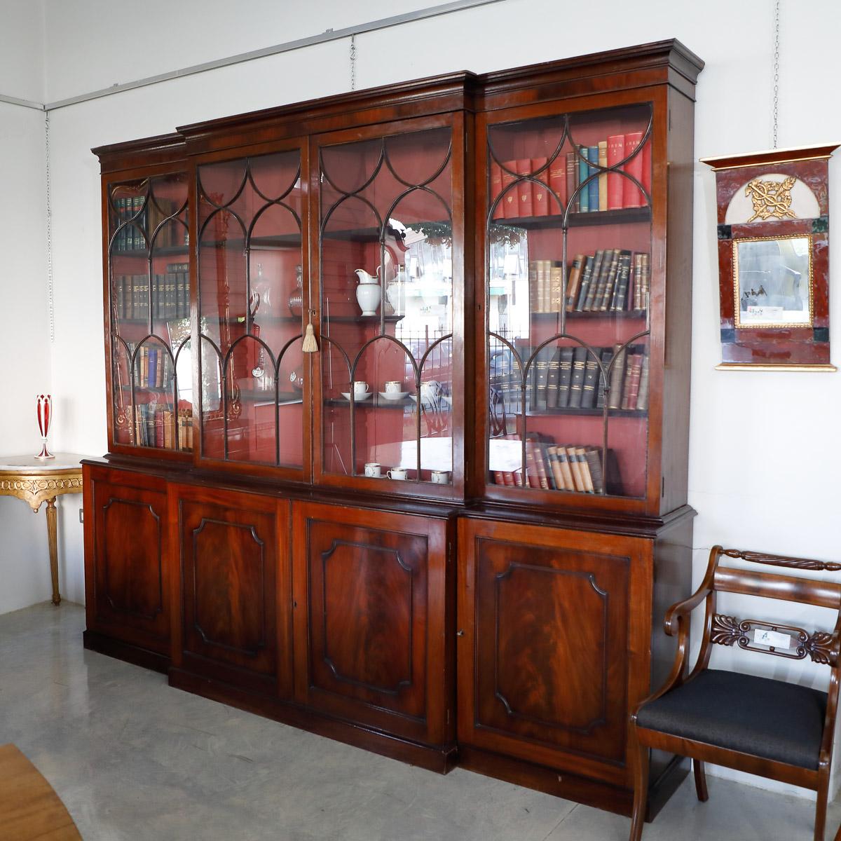 Comò Antichi Del 800 libreria inglese in mogano metà '800 | mobili sisi antiquariato