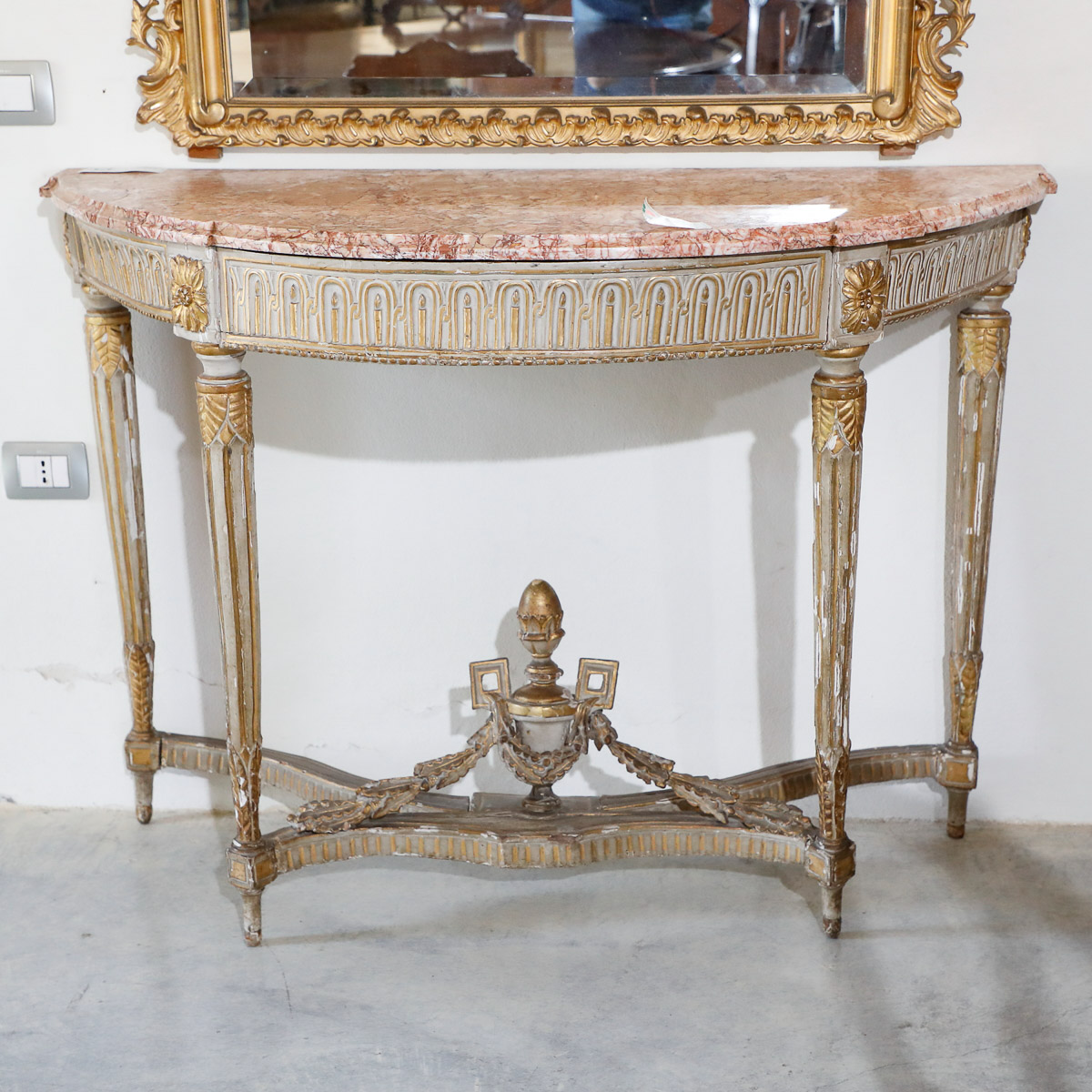 Console a mezzaluna Luigi XVI | Mobili Sisi Antiquariato
