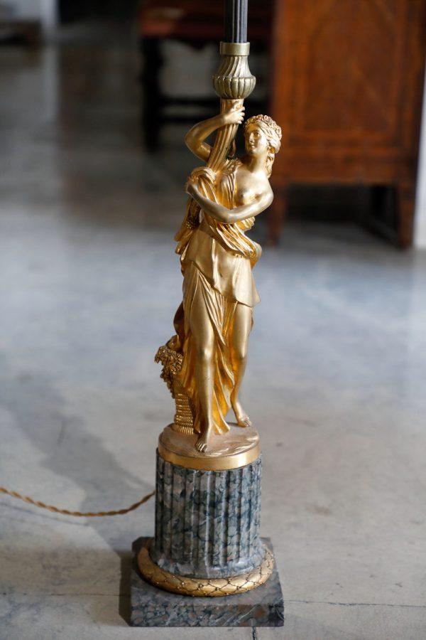 Lampada a stelo seconda metà 800 - Complementi d'arredo