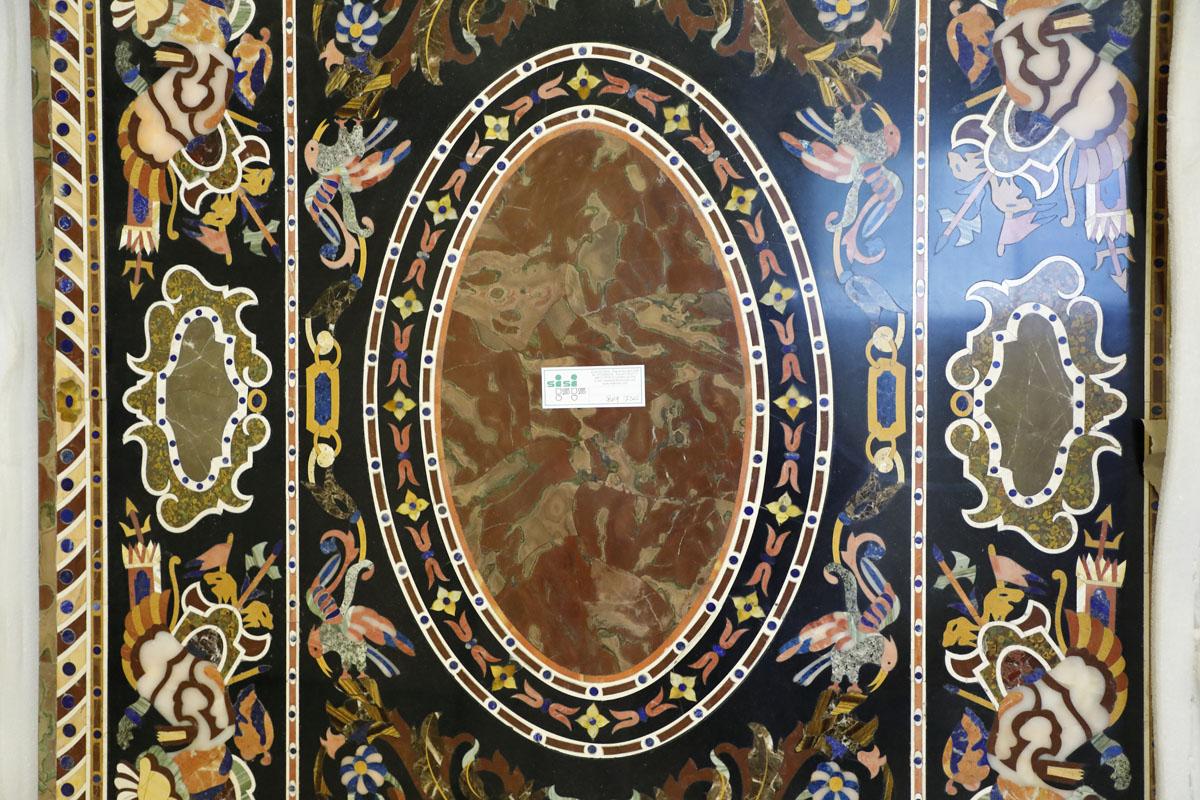 Tavoli Di Marmo Intarsiati : Piano di marmo intarsiato 2 40 x 1 20 mobili sisi antiquariato