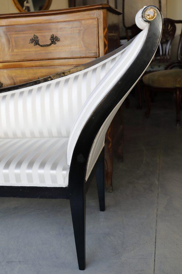 Chaise longue in legno ebanizzato fine 800 - Divani